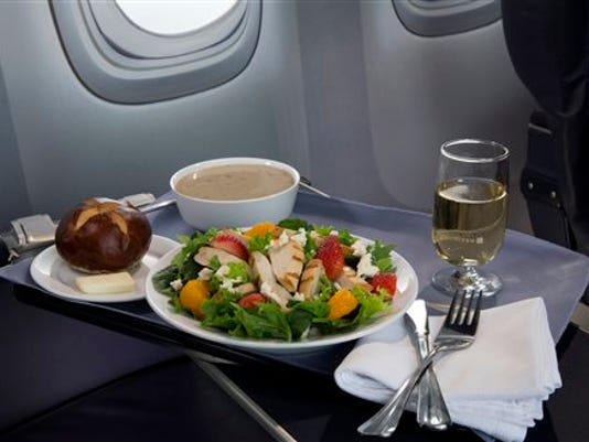 United Airlines meals