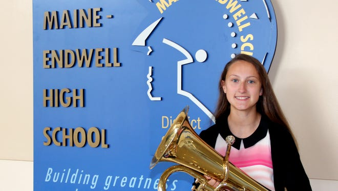Genevieve Picciano, a Maine-Endwell junior, will perform in the Macy's Thanksgiving Day Parade.