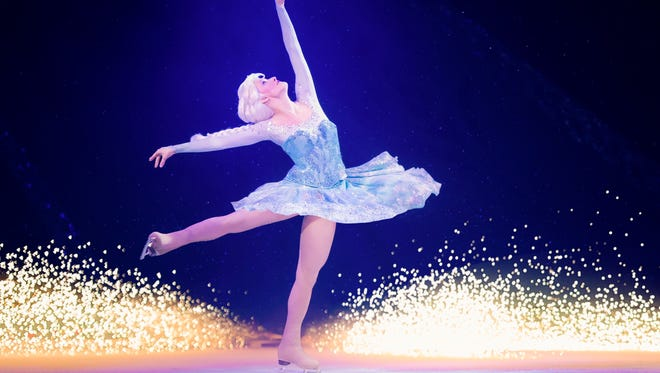 "Becky Bereswill portrays Elsa in ""Disney on Ice presents Frozen,"" which takes over the El Paso County Coliseum, beginning Oct. 7."