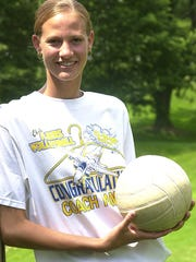 Rachel Crooks was first-team All-Ohio in volleyball and basketball at Clyde High School.