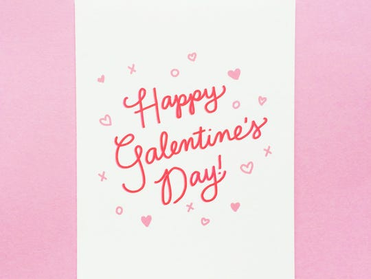 """A Galentine's Day card from the Etsy shop """"Design &"""