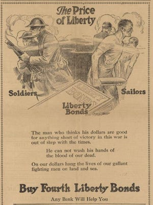 War was on everyone's mind 100 years ago. This announcement showcases a war bond campaign engaged in by the Salem Commercial Club.
