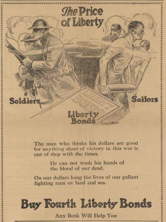 19180918 Aurora Observer War Bonds announcment