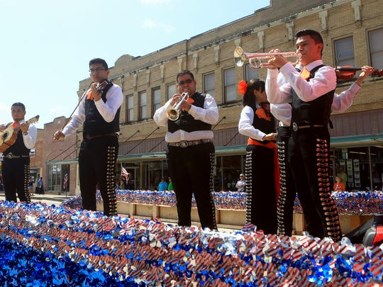 Mariachi Nueva Vida performs during the Patriotic Celebration