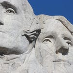 Mt. Rushmore, South Dakota, likely will last 7 million years, but you probably want to get here a little sooner. It is located in South Dakota's Black Hills . Ellen Creager/Detroit Free Press, August 2014