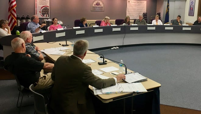 The Salem-Keizer School District budget committee discusses public testimony on the 2017-2018 proposed budget on Monday, May 22, 2017.