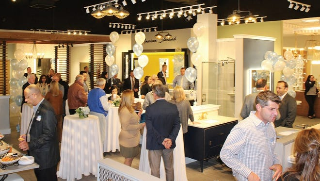 A grand opening of the new Frank Webb Home showroom was held in Piscataway.
