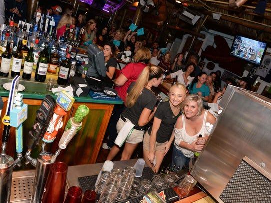 Cobbs Landing bartender Kaila Blount, left, and Celebrity