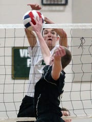 St. Joseph vs. Old Bridge boys volleyball in the GMC Tournament semifinals in Metuchen on Thursday May 19, 2016