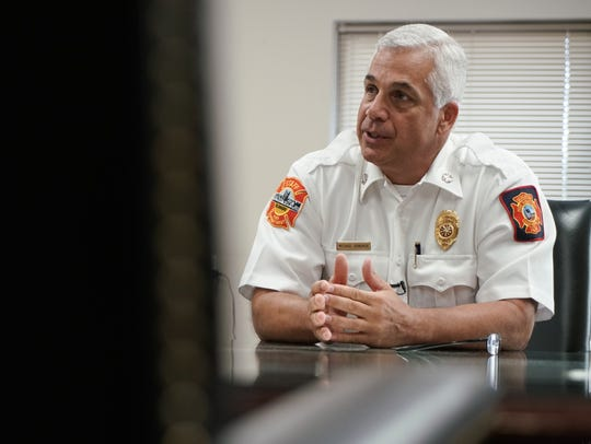 A year after the Canby Park fire that killed three firefighters, Wilmington Fire Chief Michael Donohue reflected on the event in an interview with The News Journal.