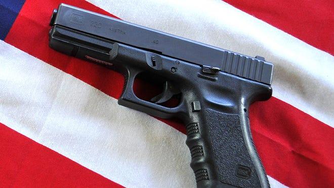 A Glock .40 caliber handgun