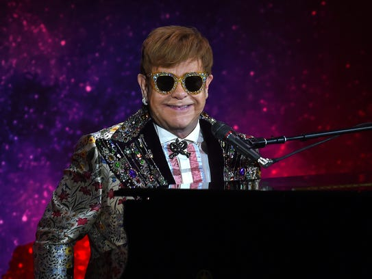 Sir Elton John has a performance of two songs before