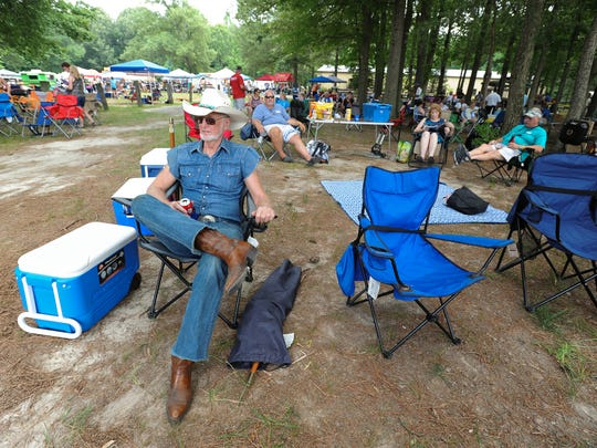 Ed Haas of Dover, with the American Legion Post 2, at the 37th annual June Jam in Houston.