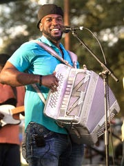Nathan Williams Jr., aka Lil Nate, directs the Zydeco Ragin' Steppers, a student band in the UL Traditional Music Program.