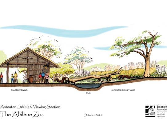 Conceptual image of the anteater exhibit at the Abilene
