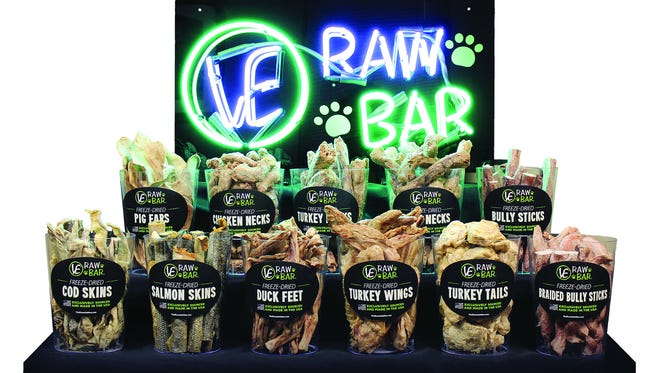 Green Bay-based Vital Essentials won a pet business magazine award for its Raw Bar display of freeze-dried pet snacks.
