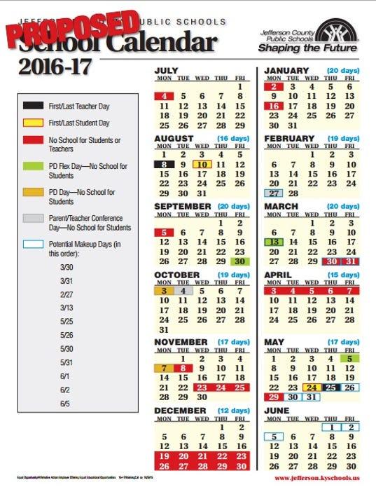 Jcps Board Oks  School Calendar