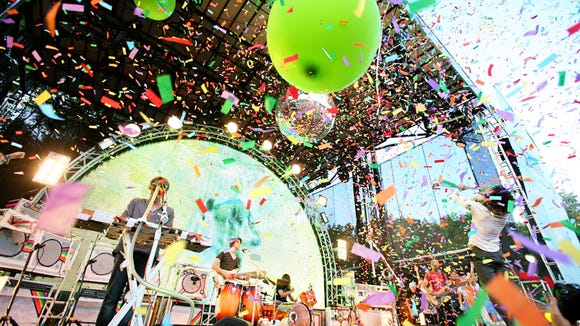 The Flaming Lips perform at the Firefly Music Festival in 2012.