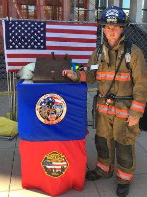 Justin Zellers of Dover, a Firefighter/Paramedic at Hopkinsville Fire Department, took part in the 9/11 Memorial Stair Climb in Nashville on Sept. 11.