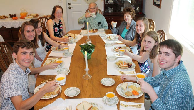 The St. Peter the Fisherman Catholic School Class of 2012, now graduating from high school, recently held a tea party to honor the Adopted Grandparents Program earlier this month.