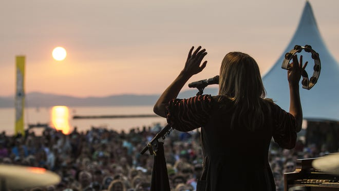 Grace Potter plays during day 2 of the Grand Point North music festival at Waterfront Park on Sunday afternoon September 17, 2017 in Burlington.