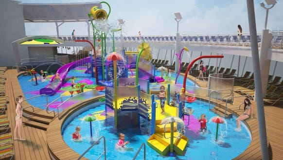 The waterscape aims to appeal across age ranges, with