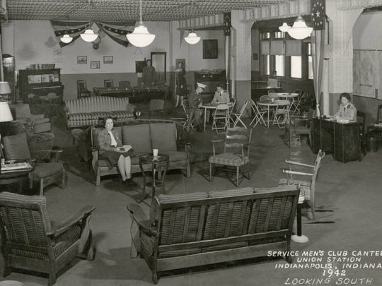 The lounge of the Service Men's Club Canteen at Union
