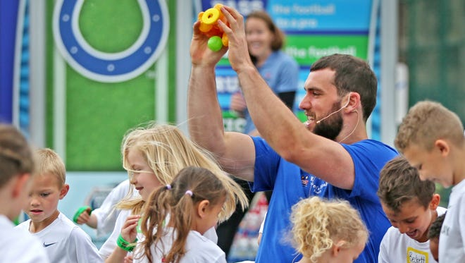 The Indianapolis Colts training camp at Grand Park Sports Campus in Westfield will host Kids Day July 28.