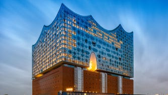 Hamburg's glittering Elbphilharmonie was designed by Pritzker-winning Swedish architects Herzog & de Meuron.