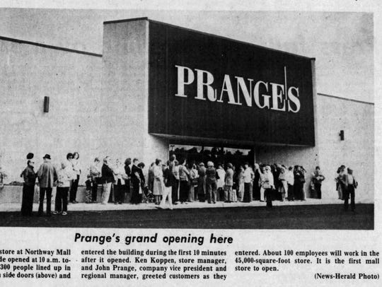 Prange's opened at Northway Mall in Marshfield on Sept.