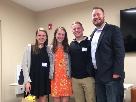 Left to right: Alice Berndt, Olivia Virzi, Adam Present, and Bridges' Director of Operations Patrick Davis