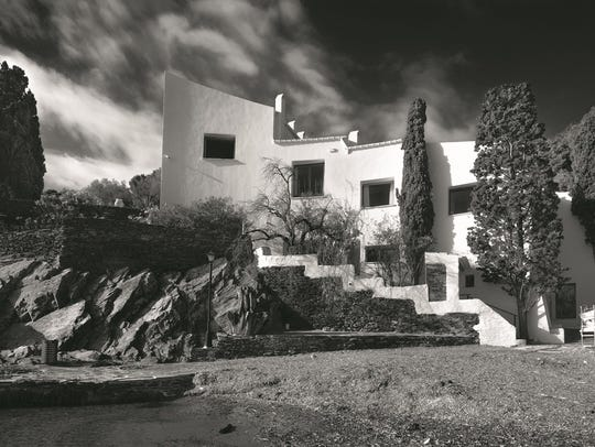 The  exterior of Salvador Dali's home in Port Ligat.,