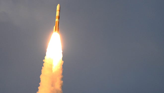 A United Launch Alliance Delta IV rocket lifts off from Cape Canaveral Air Force Station on Thursday, July 23, 2015.