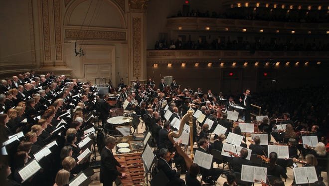 Spring For Music - James Conlon conducts the Cincinnati Symphony Orchestra and May Festival Chorus, Carnegie Hall 5/9/14.