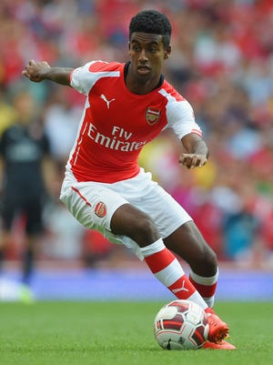 Gedion Zelalem of Arsenal in action during the Emirates Cup match between Arsenal and AS Monaco at the Emirates Stadium on August 3, 2014 in London, England.