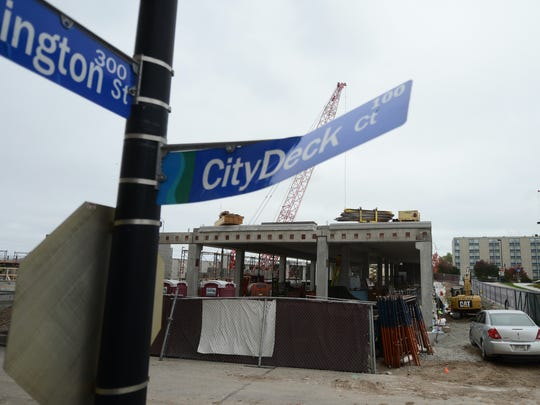 Construction continues on the future CityDeck Landing