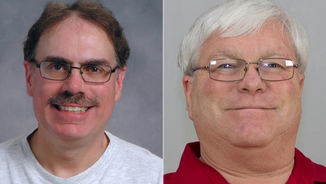 """Dean Dekker, left, and Robert """"Bob"""" Heck are among four candidates in a sixth district aldermanic primary."""