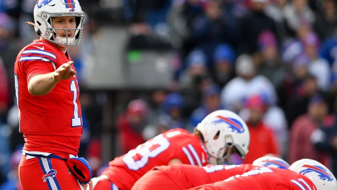 """Bills quarterback Josh Allen says the biggest difference for him heading into this season is he has more answers to questions and situations than he's ever had. """"I wouldn't say it's been easier, but it's been more comfortable,"""" he says."""
