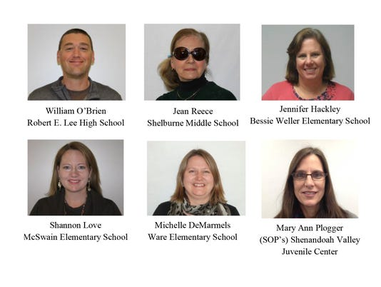 Staunton teachers of the year