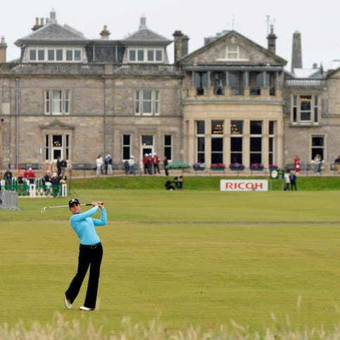 In this Aug. 5, 2007, file photo, Lorena Ochoa, of Mexico, plays a shot off the first fairway during the Women's British Open golf tournament on the Old Course at the Royal and Ancient Golf Club in St Andrews, Scotland. The Royal & Ancient Golf Club, an all-male bastion since its founding 260 years ago, voted to allow women to join.