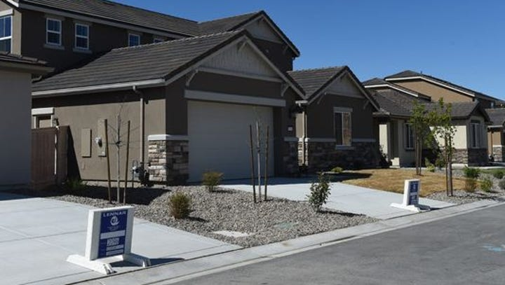 New homes in south Reno by RC Willey April 15, 2016.