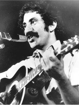 Singer Jim Croce is seen as he appeared at his last performance in Natchitoches, La., Sept. 21, 1973.  After this appearance, he and five others were killed when his plane crashed near Natchitoches airport. Croce had played in Columbus the night before. (AP Photo)