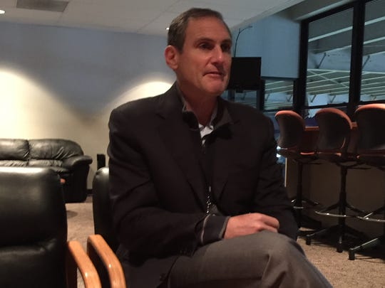 Pac-12 commissioner Larry Scott watched last Saturday's Oregon State-Washington State game from the skyboxes at Reser Stadium in Corvallis.