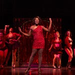 """Cast members get their strut on in """"Kinky Boots"""", winner of six Tony Awards, including Best Musical."""