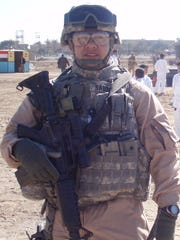 U.S. Army Captain Dennis Sadorra, 46, of Bermuda Dunes, was working as a counselor at Herbert Hoover Elementary School in Indio on Sept. 11, 2001.