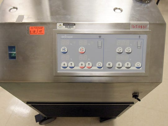A heater-cooler device at York Hospital, Monday, Oct.