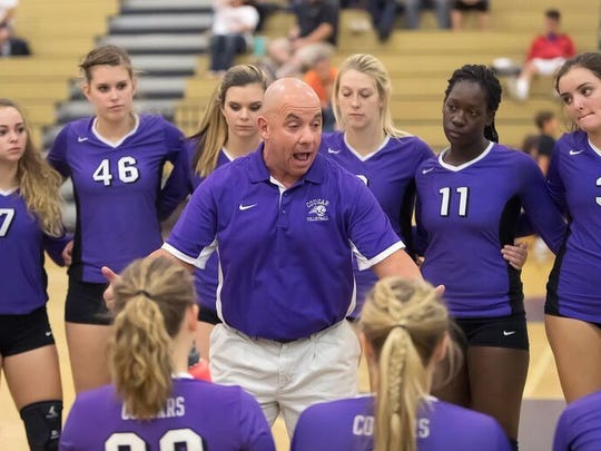 Frank Sandomenico coaches the Spanish Springs volleyball
