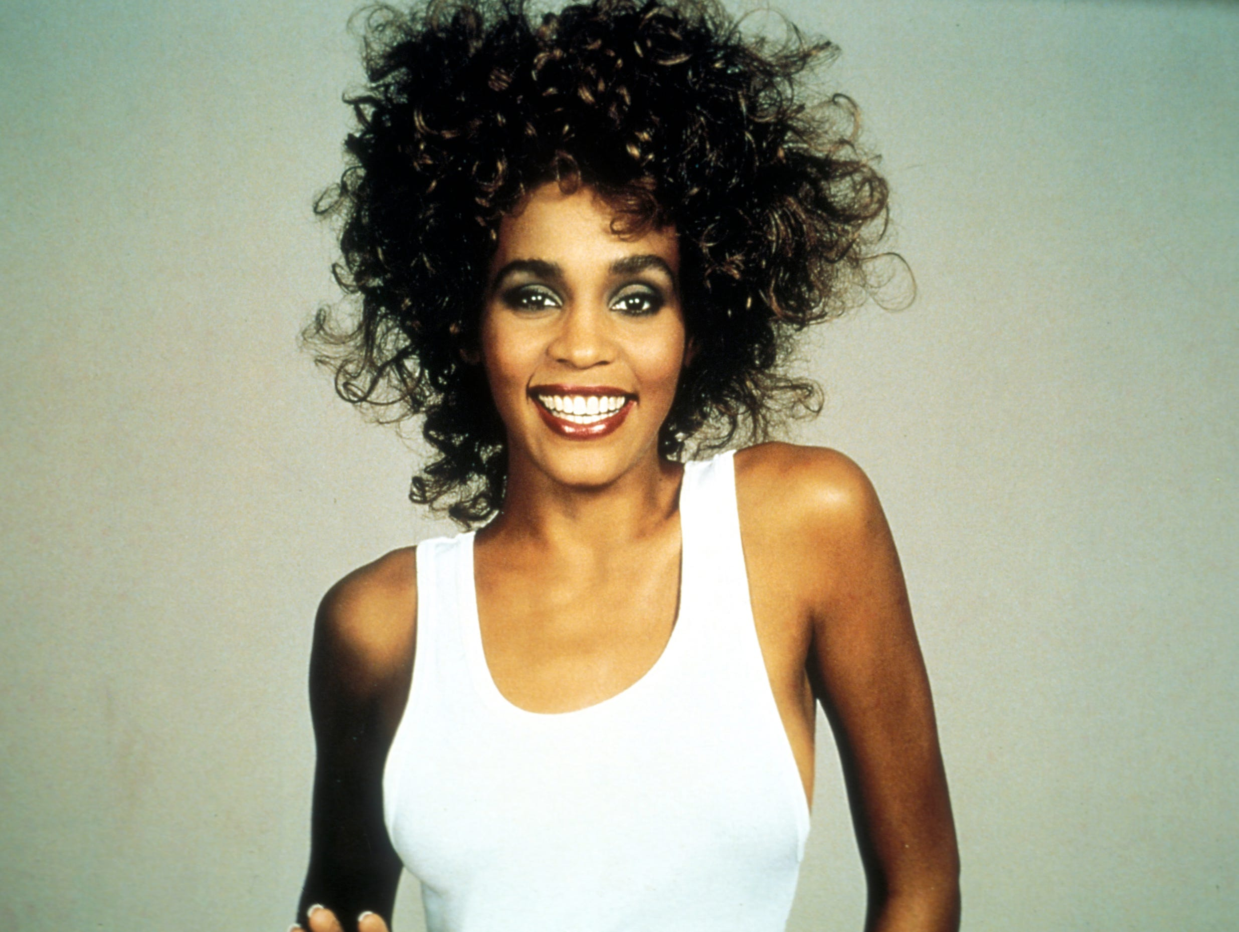 The late Whitney Houston in 1987.