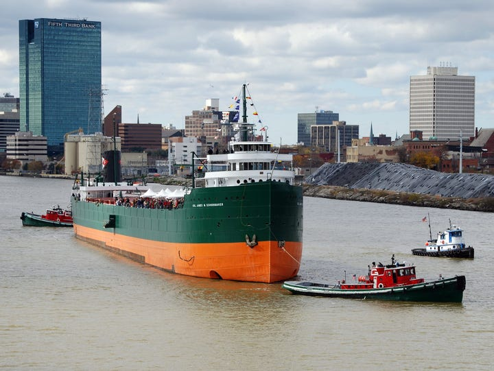 On Oct. 27, 2012, the historic Great Lakes freighter