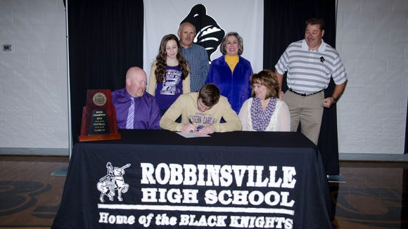 Robbinsville senior Skyler Matheson will play his college football at Western Carolina University.
